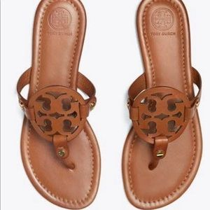 Tory Burch Brown Miller Sandals Size 5.5